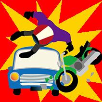 バイク衝突事故イメージ