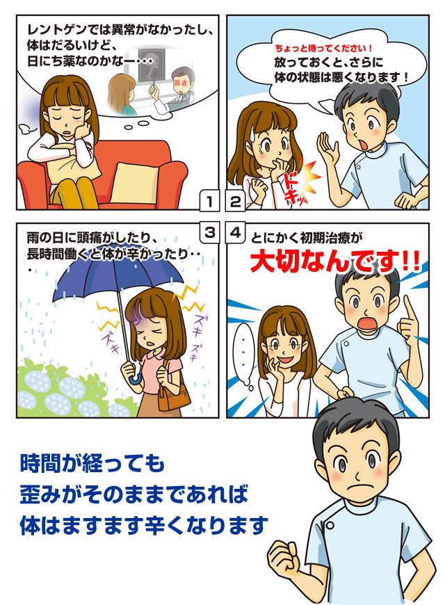 漫画で見る「交通事故・後遺症の危険性」